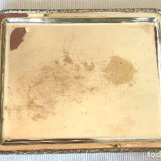 Antigüedades: BANDEJA DE ALPACA CON ASAS. Lote 102827195