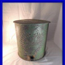 Antigüedades: PAPELERA METALICA CON PEDAL PARA ABRIR. Lote 102827135
