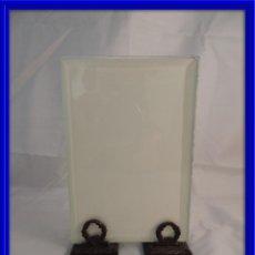Antigüedades: MARCO DE FOTOS DE CRISTAL SOBRE CORONAS DE LAUREL. Lote 114413811