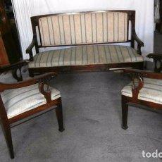 Antigüedades: CONJUNTO SILLONES Y TRESILLO MODERNISTA. Lote 102919983