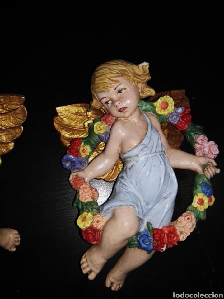 Antigüedades: Figura Angel angeles querubín - Foto 3 - 102928386