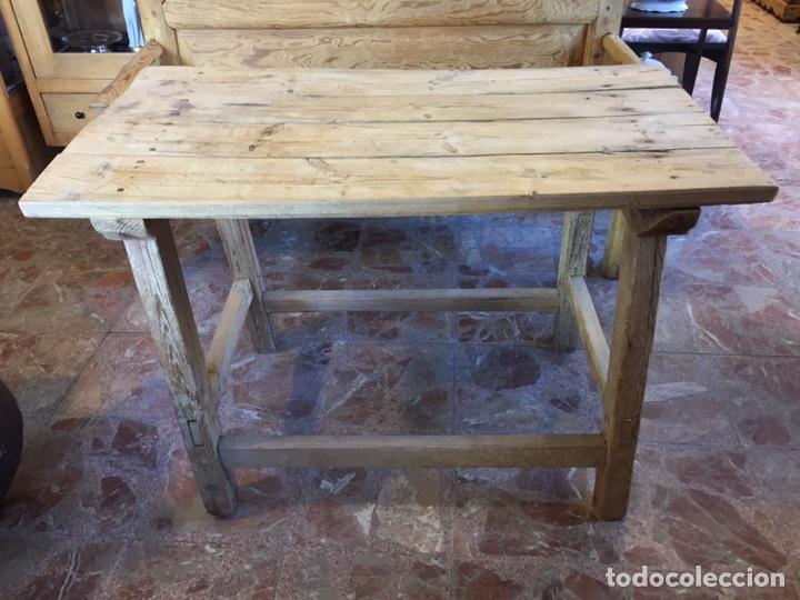 Mesa madera r stica comprar mesas antiguas en for Mesas antiguas rusticas