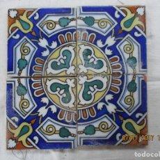 Antigüedades: COMPOSICION DE AZULEJOS SIGLO XIX. Lote 102938395
