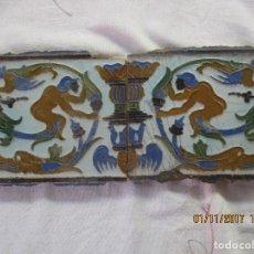 Antigüedades: PAREJA DE AZULEJOS DEL SIGLO XVIII. Lote 102938991