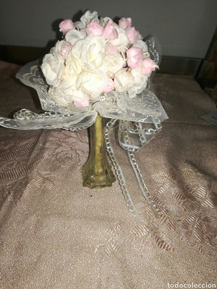 Antigüedades: Pequeño ramo de flores de comunion - Foto 2 - 102940774