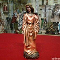 Antigüedades: ANGEL ALADO POLICROMADO DE 22, CN. Lote 102961266