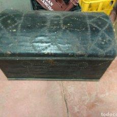 Antigüedades: BAUL FORRADO DE TELA. Lote 102972252