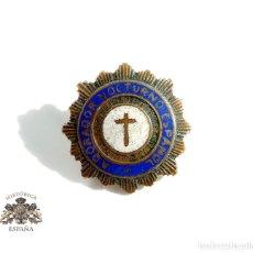 Antigüedades: INSIGNIA ADORADOR NOCTURNO ESPAÑOL. Lote 102979219