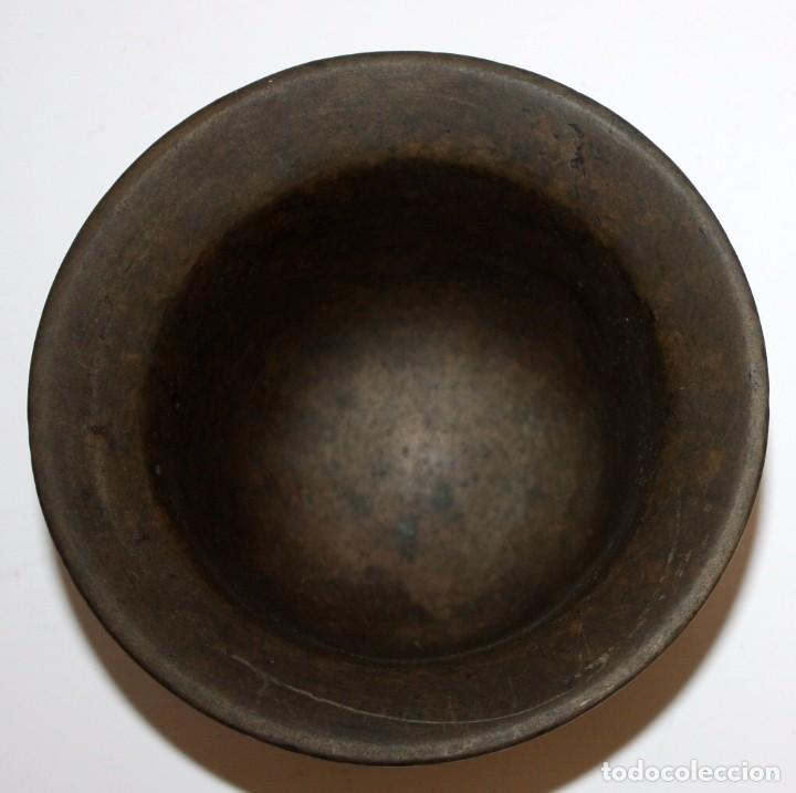 Antigüedades: ANTIGUO ALMIREZ EN BRONCE DE LA SEGUNDA MITAD DEL SIGLO XVII. MORTERO - Foto 4 - 103036539