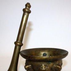 Antigüedades: ANTIGUO ALMIREZ EN BRONCE DE LA SEGUNDA MITAD DEL SIGLO XVII. MORTERO. Lote 103036779