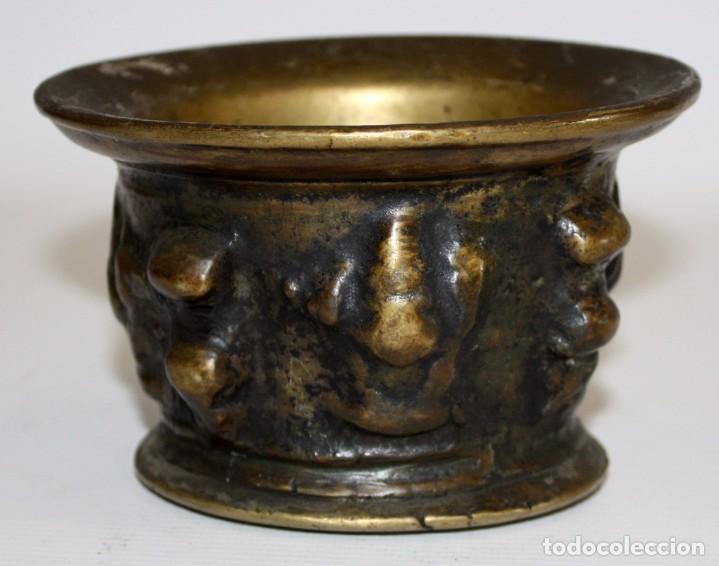Antigüedades: ANTIGUO ALMIREZ EN BRONCE DEL ULTIMO TERCIO DEL SIGLO XVII. MORTERO - Foto 3 - 103039419