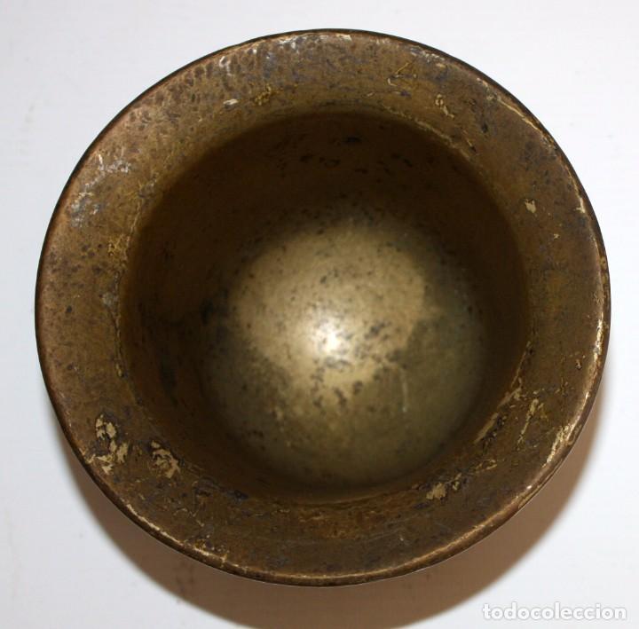 Antigüedades: ANTIGUO ALMIREZ EN BRONCE DEL ULTIMO TERCIO DEL SIGLO XVII. MORTERO - Foto 4 - 103039419