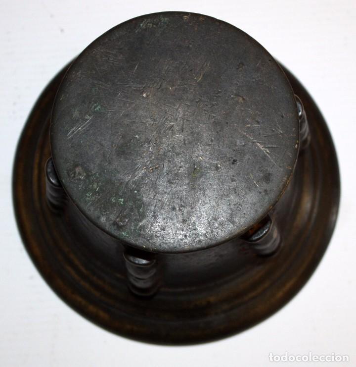 Antigüedades: ANTIGUO ALMIREZ EN BRONCE DE FINALES DEL S.XVII - PRINCIPIOS DEL S.XVIII. MORTERO - Foto 6 - 103041747