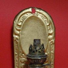 Antigüedades: ANTIGUO QUINQUE OPALINA BLANCA. Lote 103084315