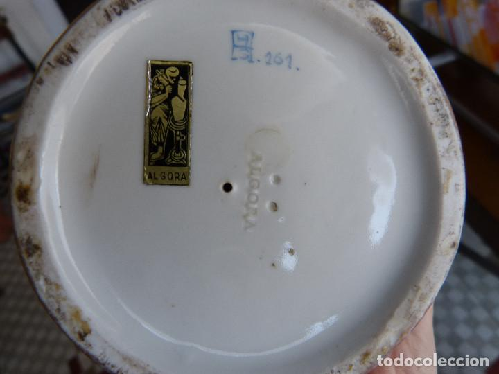 Antigüedades: Angelote con cervatillo. Porcelana de Algora, policromada y esmaltada. - Foto 3 - 103089079