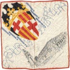 Antigüedades: PAÑUELO CONMEMORATIVO SEDA - EXPOSICIÓN UNIVERSAL DE BARCELONA - AÑO 1929 - PALACIO DE PROYECCIONES. Lote 103102091