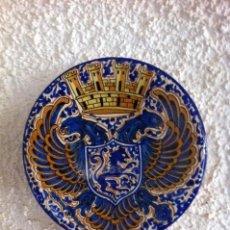 Antiguidades: ANTIGUO PLATO DE CERAMICA DE TALAVERA. 32,5 CM. DIAMETRO.. Lote 103107115