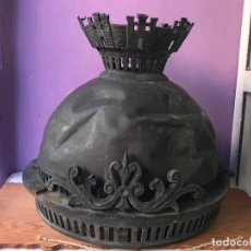 Antigüedades: AUTENTICA FAROLA REPUBLICANA, REPUBLICA- RETIRADA TRAS LA GUERRA CIVIL - CORONA MURAL - ENVIO GRATIS. Lote 103112891