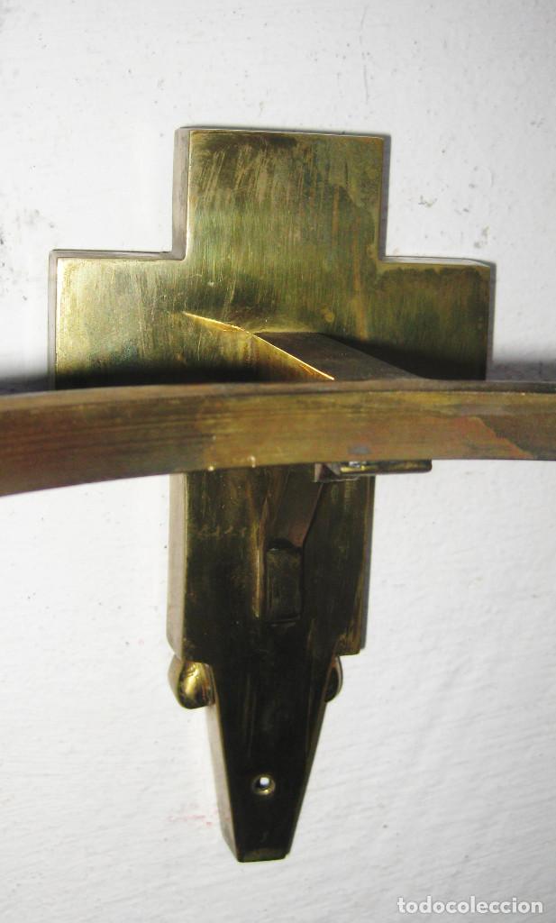 Antigüedades: PRECIOSA AUTENTICA BENDITERA AGUA BENDITA DE IGLESIA AÑOS 60 NEO CLASICA EN LATON Y CRISTAL - Foto 6 - 103117615