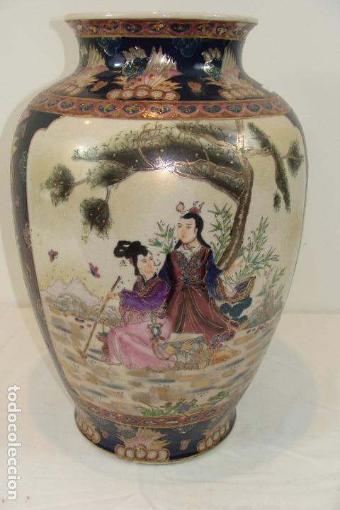 Antigüedades: Jarrón de porcelana Satsuma - Siglo XX - Foto 3 - 103123195
