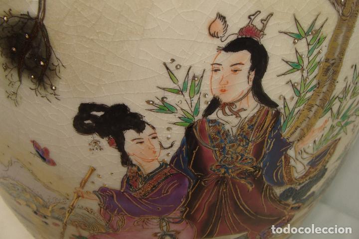 Antigüedades: Jarrón de porcelana Satsuma - Siglo XX - Foto 6 - 103123195