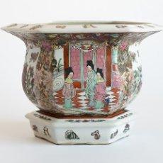 Antigüedades: MACETERO CHINO HEXAGONAL. Lote 57339197
