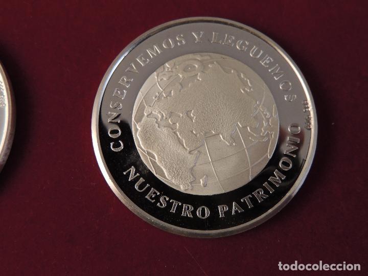 Antigüedades: ESTUCHE CON SEIS MONEDAS DE PLATA 999 CONMEMORATIVAS - Foto 10 - 103155343