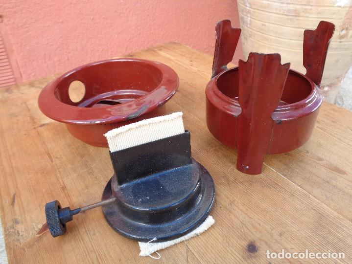 Antigüedades: HORNILLO DE PETROLEO o ESPIRITU, METAL ESMALTADA, ANTIGUO ALEMAN - Foto 2 - 103191375