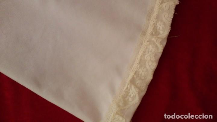 Antigüedades: Preciosa enaguas virgen 60 cm 70cm - Foto 4 - 103208943