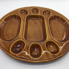 Antigüedades: FUENTE O PLATO DE SERVIR MARCA GIL VARGAS S.A. SEGOVIA DE CERAMICA VIDRIADA. Lote 103216411