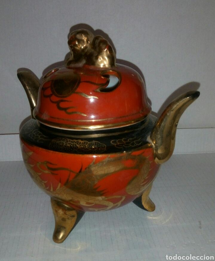 AZUCARERO INCENSARIO PORCELANA JAPON (Antigüedades - Porcelana y Cerámica - Japón)