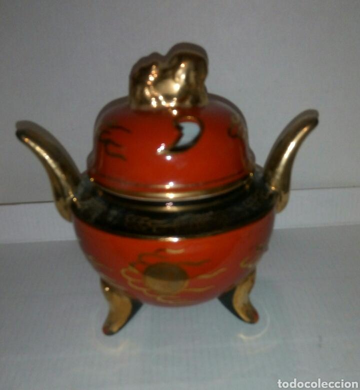 Antigüedades: Azucarero Incensario porcelana japon - Foto 2 - 103217486