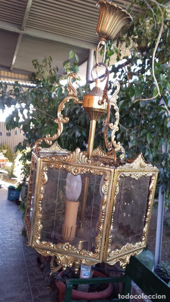 PRECIOSO FAROL EN BRONCE, (Antigüedades - Iluminación - Faroles Antiguos)