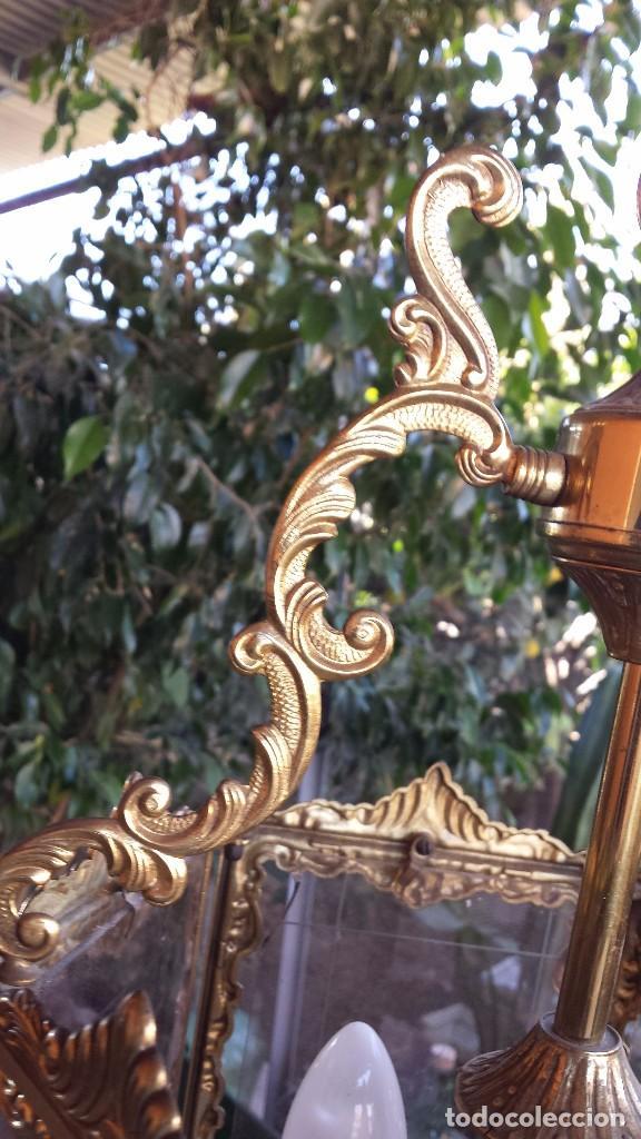 Antigüedades: precioso farol en bronce, - Foto 3 - 103219527