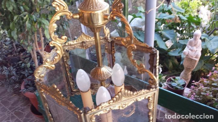 Antigüedades: precioso farol en bronce, - Foto 6 - 103219527