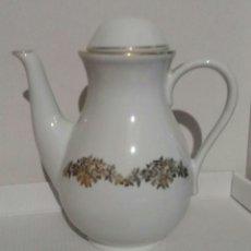 Antigüedades: CAFETERA PORCELANA SANTA CLARA. Lote 103220200