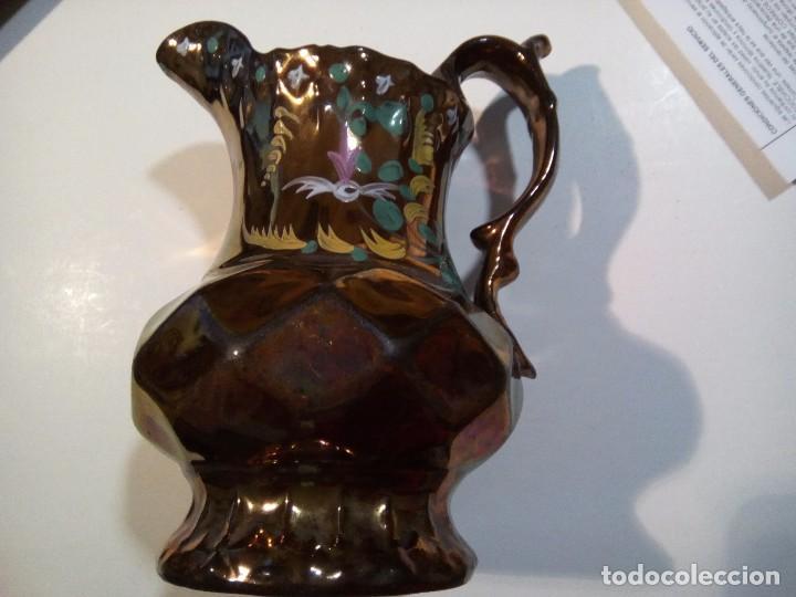 *ANTIGUA JARRA DE REFLEJOS. BRISTOL (REG. G/A.) (Antigüedades - Porcelanas y Cerámicas - Inglesa, Bristol y Otros)