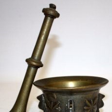 Antigüedades: ANTIGUO ALMIREZ EN BRONCE DE FINALES DEL S.XVII - PRINCIPIOS DEL S.XVIII. MORTERO. Lote 103255699