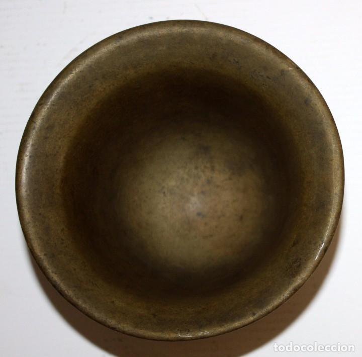 Antigüedades: ANTIGUO ALMIREZ EN BRONCE DE PRINCIPIOS DEL S.XVIII. MORTERO - Foto 4 - 103255983