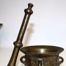 Antigüedades: ANTIGUO ALMIREZ EN BRONCE DE FINALES DEL S.XVII - PRINCIPIOS DEL S.XVIII. MORTERO. Lote 103256207