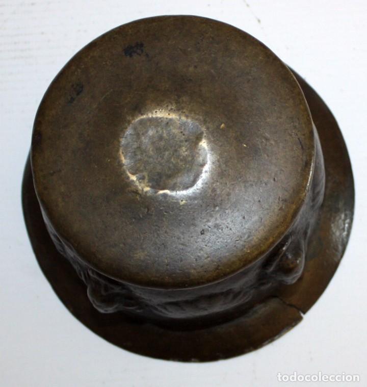 Antigüedades: ANTIGUO ALMIREZ EN BRONCE DEL ULTIMO TERCIO DEL S.XVII. MORTERO - Foto 6 - 103257035