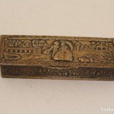 Antigüedades: CAJITA PASTILLERO EN PLATA MACIZA DE LEY 925MILESIMAS . Lote 103257863