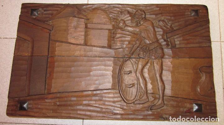 TALLA DE DON QUIJOTE 50 X 30 X 7 IDEAL CAJA DE MADERA (Antigüedades - Hogar y Decoración - Cajas Antiguas)