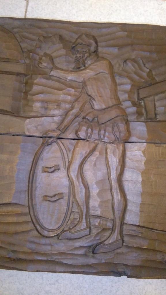 Antigüedades: talla de don quijote 50 x 30 x 7 ideal caja de madera - Foto 6 - 103263291