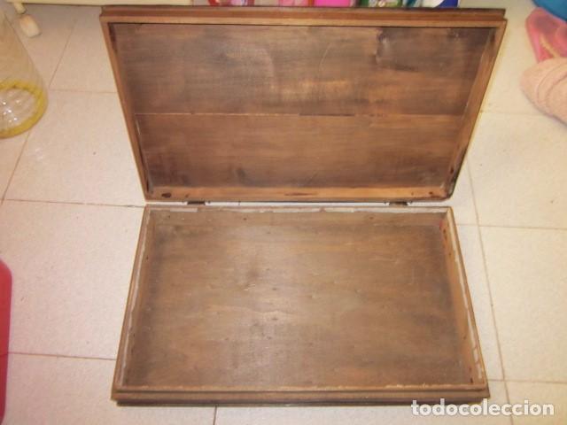 Antigüedades: talla de don quijote 50 x 30 x 7 ideal caja de madera - Foto 4 - 103263291
