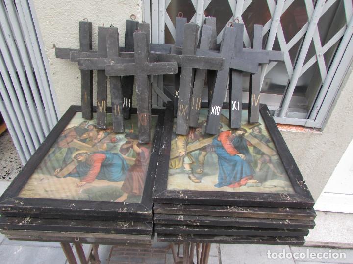 14 cuadros y 14 cruces de madera numeradas de l - Comprar Cruces ...