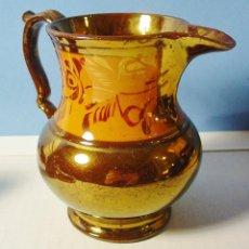 Antigüedades: PRECIOSA JARRA EN LOZA DE REFLEJO METÁLICO DE BRISTOL. SIGLO XIX. BUEN ESTADO. 14 CM ALTURA. Lote 103280807