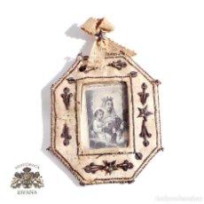Antigüedades: RELICARIO DE NUESTRA SEÑORA DEL MONTE CARMELO 8,5 X 7 CM. Lote 103288607