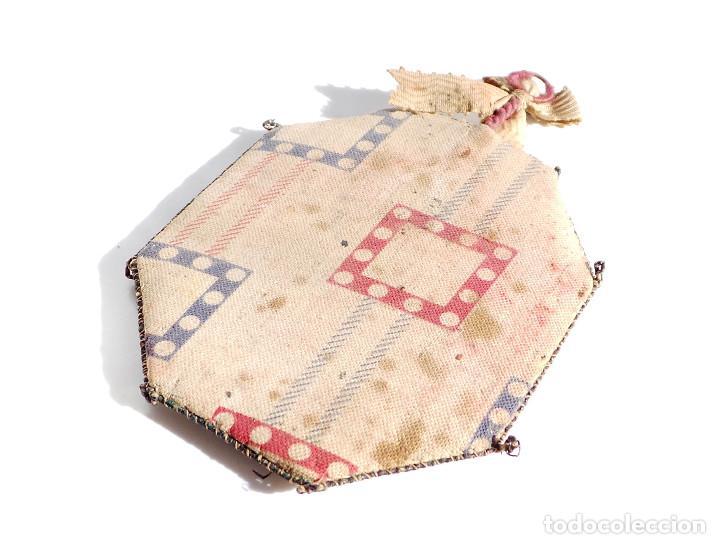 Antigüedades: RELICARIO DE NUESTRA SEÑORA DEL MONTE CARMELO 8,5 X 7 CM - Foto 4 - 103288607