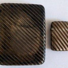 Antigüedades: PITILLERA Y FOSFORERA EN PLATA 900 PRINCIPIOS SIGLO XX. Lote 103292319